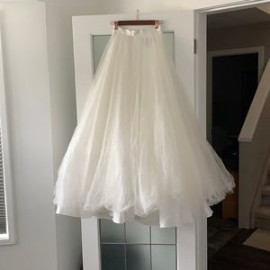 Terani Couture full length wedding tulle skirt